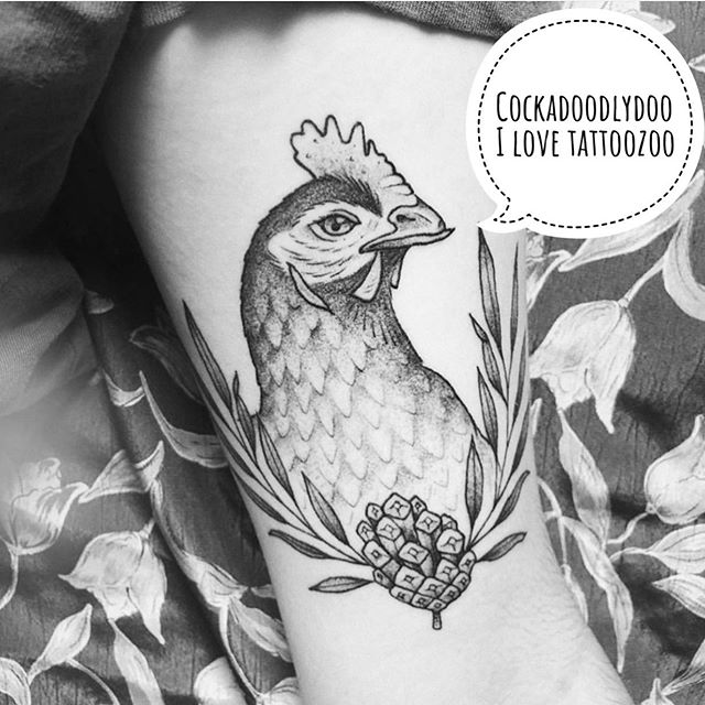 🐓 (tattoo by @interstellarwhispers) Call 250-361-1952 to book a FREE consultation.