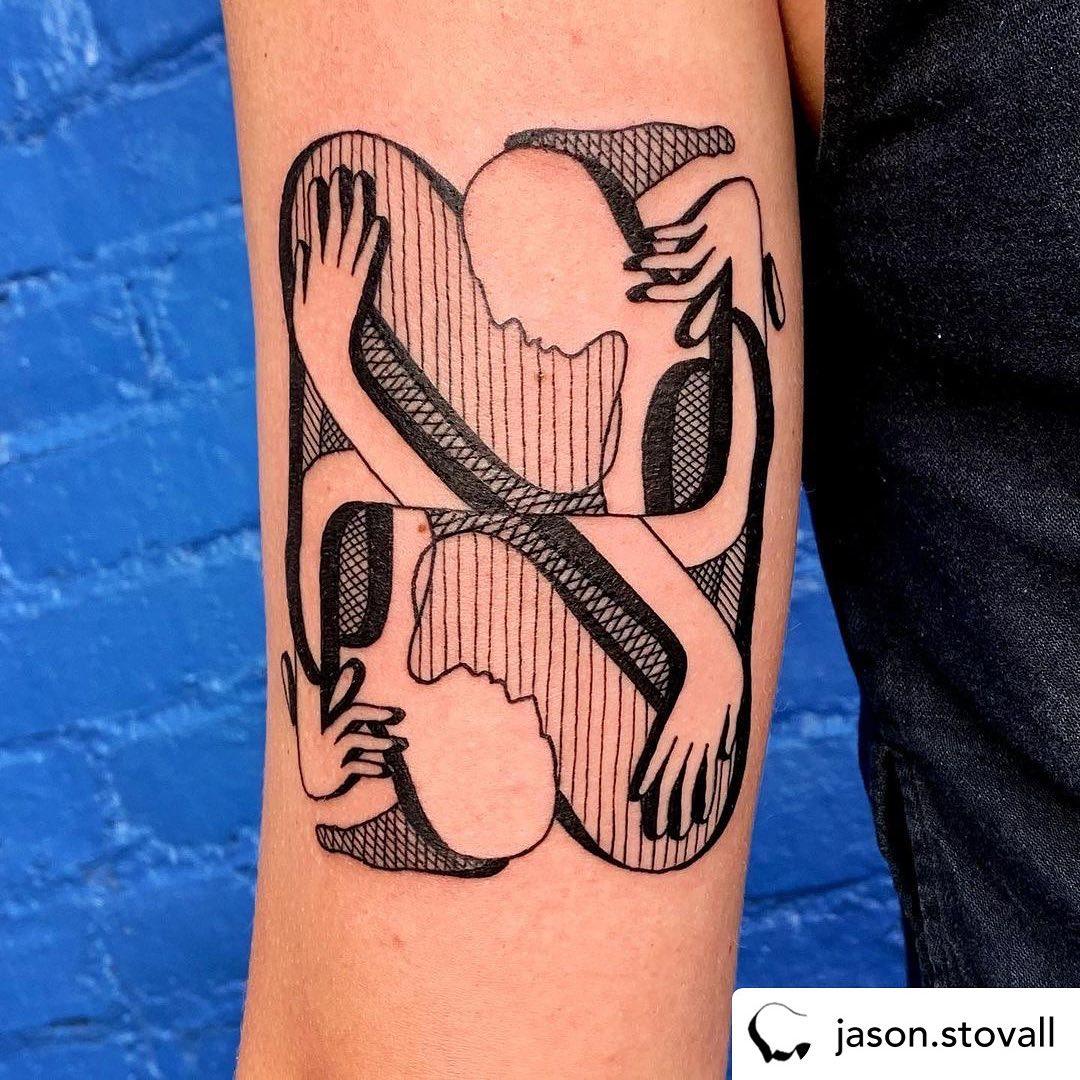 • @jason.stovall Thanks so much @bridgetpiller !!!......#tattoozoo #hatchingtattoo #crosshatching #linetattoos #lineweight #variation #jasonstovall